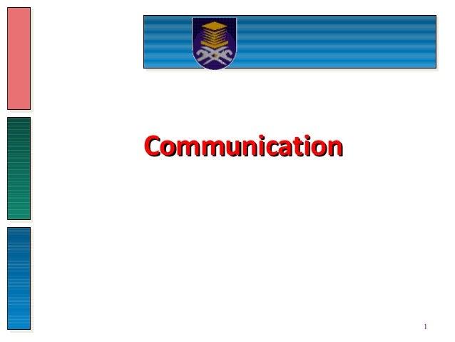 CommunicationCommunication 1