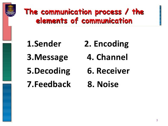the various phases of communication process Six stages of communication process six stages of communication by michael argyle michael argyle was a social psychologist communication can occur via various processes and methods and depending on the channel used and the style of communication there can be various types of.