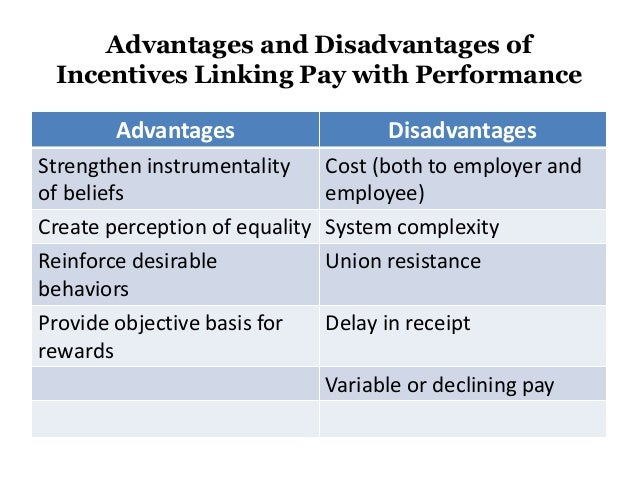 advantages and disadvantages of using objective measures of performance This behavioral–based measure is preferable to a trait–oriented measure because it captures actual observable, job performance rather than a trait that may or may not influence performance 5 describe mbo, its advantages and disadvantages 116.