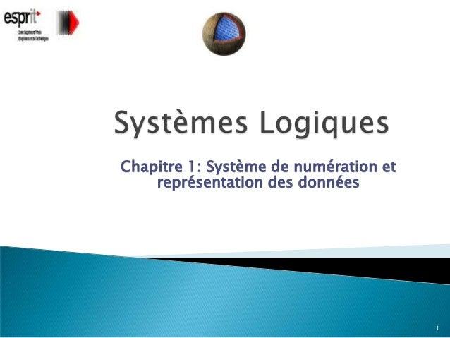 Chapitre 1: Système de numération et    représentation des données                                       1