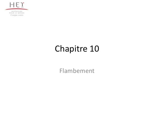 Campus centre                Chapitre 10                 Flambement