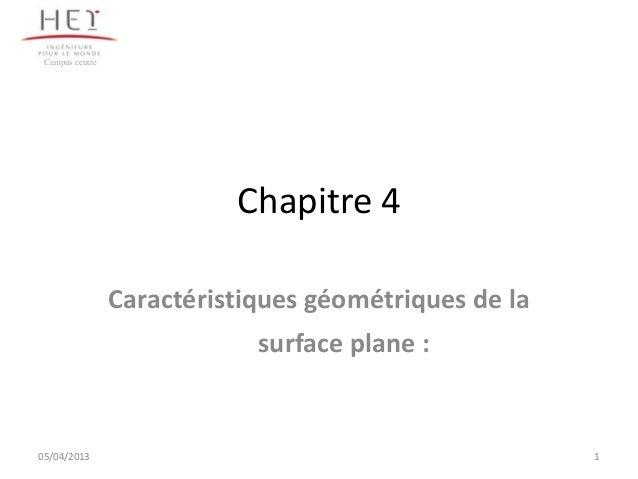 Campus centre                           Chapitre 4                 Caractéristiques géométriques de la                    ...