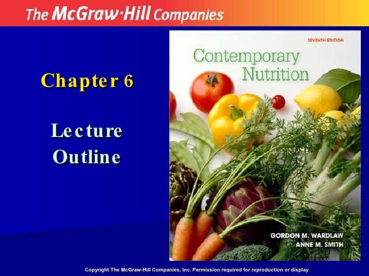 Nutrition - Chapter 6 Notes