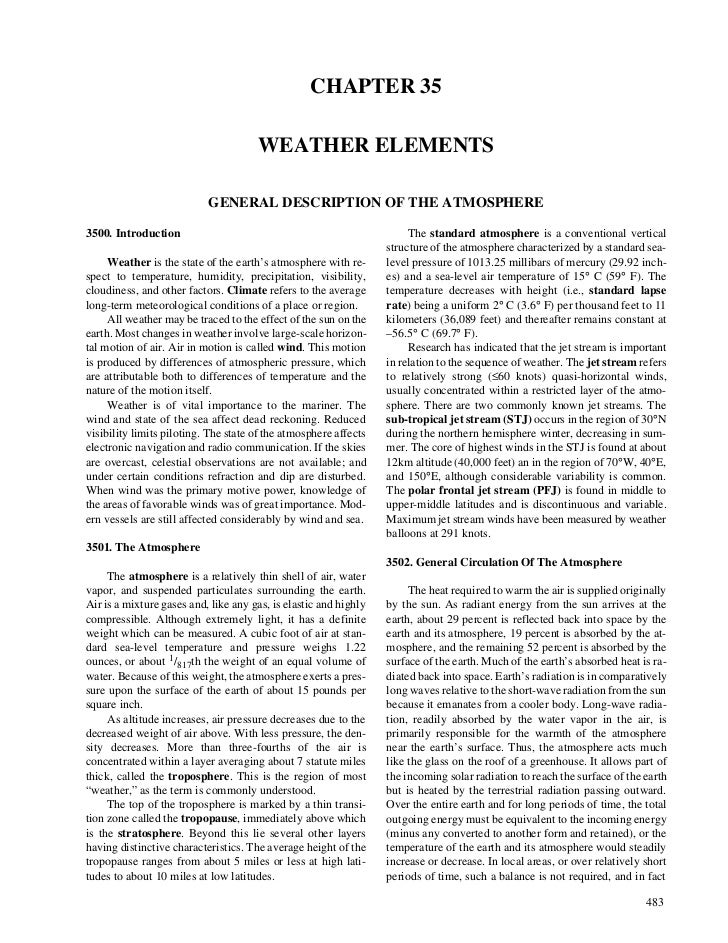 CHAPTER 35                                      WEATHER ELEMENTS                           GENERAL DESCRIPTION OF THE ATMO...