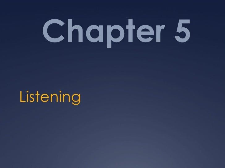 Chapter 5 Listening