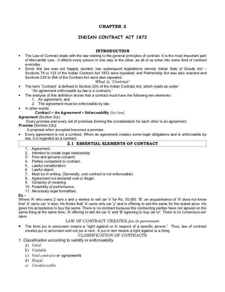 CHAPTER 2                                        INDIAN CONTRACT ACT 1872                                                 ...