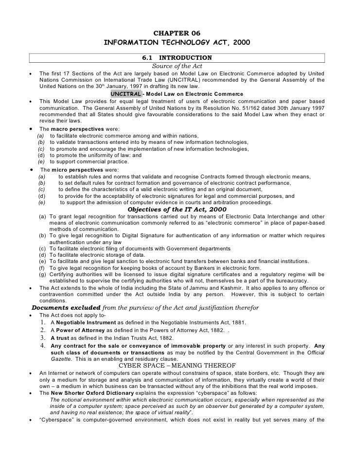 Chapter 06   Information Technology Act 2000