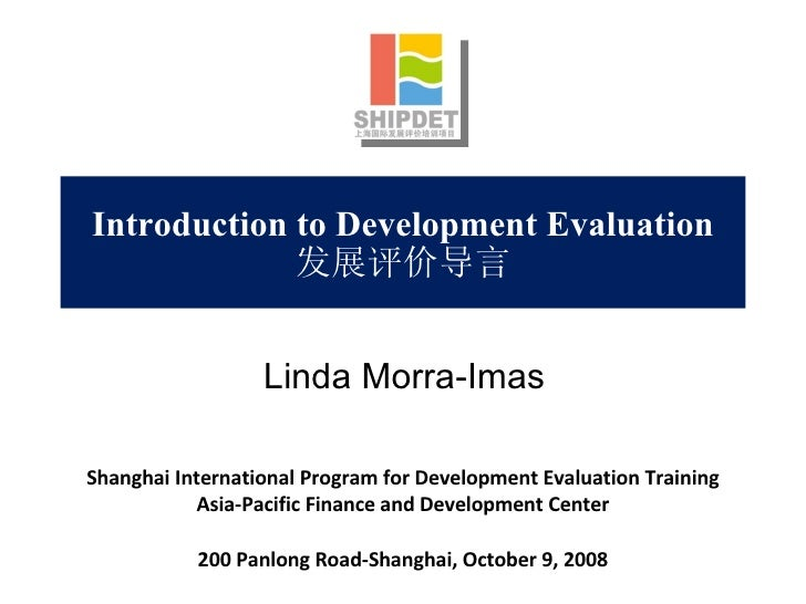 Introduction to Development Evaluation 发展评价导言