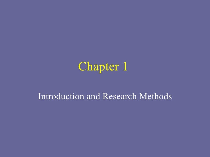 Chapter 1  Introduction and Research Methods