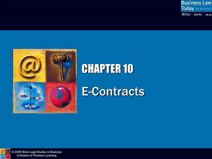 CHAPTER 10 E-Contracts