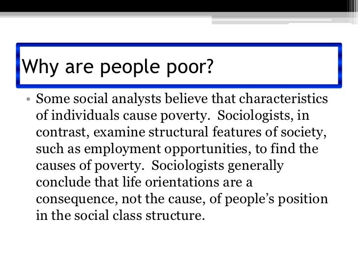 causes of poverty in the united When we compare absolute poverty in the united states with absolute poverty in india, or other poor countries, we should be using $4 in the united states and $190 in india.
