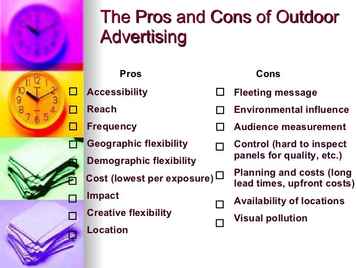 pros and cons advertising media For the latest authoritative social media and influencer marketing news, trends, and stats, subscribe to our industry digest newsletter the pros and cons of.
