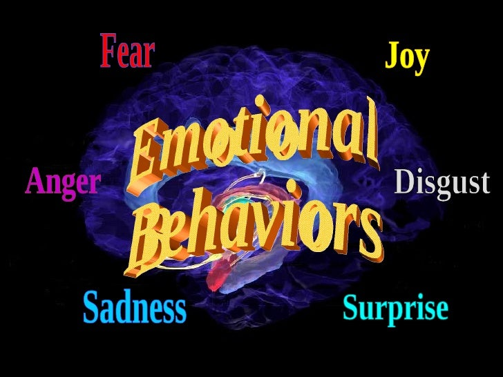 Fear Anger Sadness Joy Disgust Surprise Emotional Behaviors