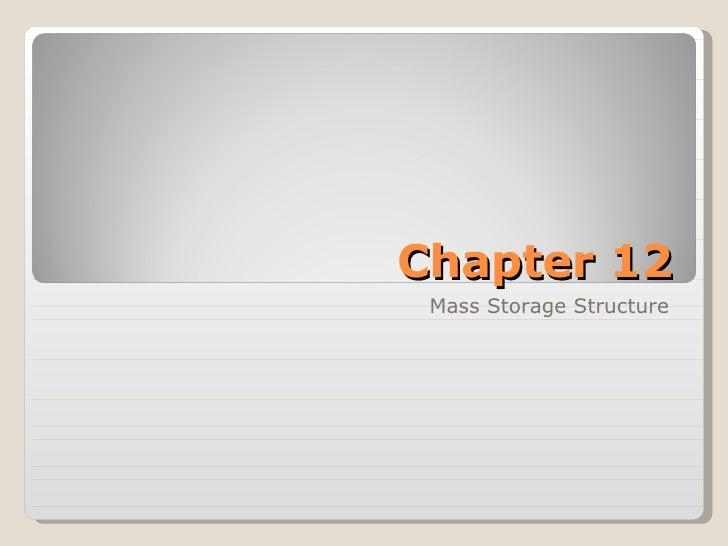 Chapter 12 Mass Storage Structure