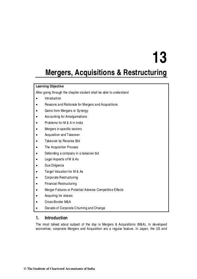 merger and acquisation Mergers & acquisitions (m&a) refer to the  a merger or an acquisition usually starts out with a series of informal discussions between the boards of the.