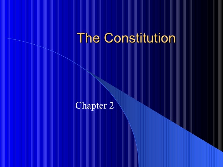 Chapter 2 Constitution