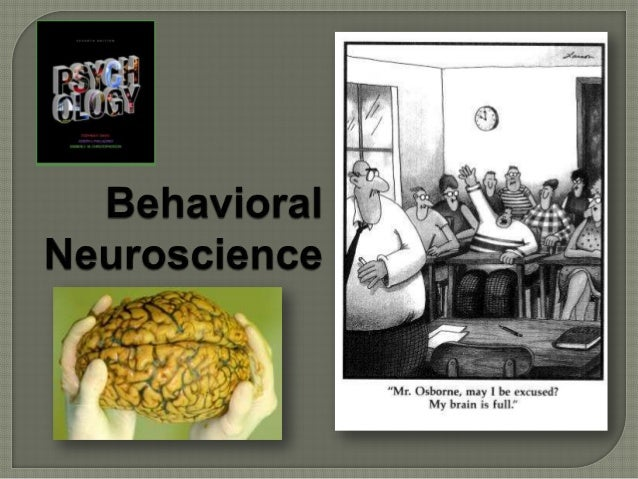  Behavioral  neuroscience > from several disciplines; how the nervous system is related to behavior; biological basis of ...