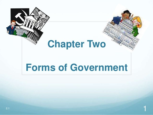 Chapter Two Forms of Government 2.1 1