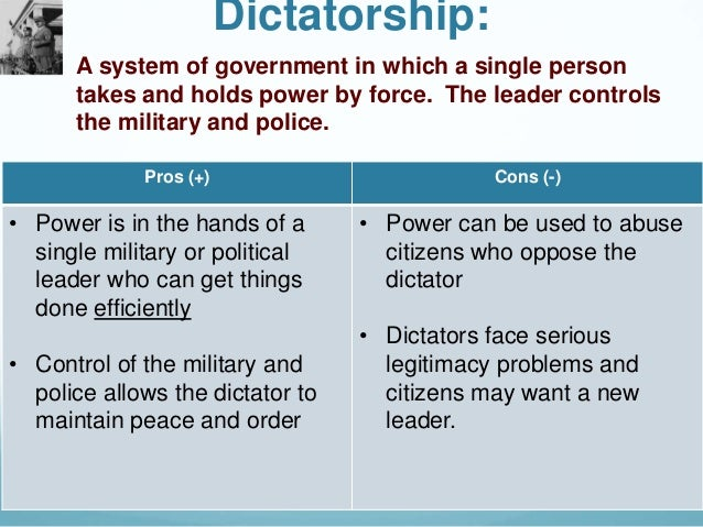 the advantages and disadvantages of monarchies and democratic governments