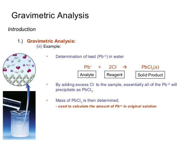 gravimetric analysis escience lab 11