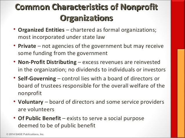 Overview of nonprofit sector theory for 6 characteristics of bureaucracy