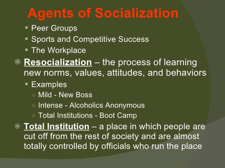 essay for resocialization Socialization on studybaycom - sociology, essay - efficientwriter, id - 215203  socialization, essay assignment 1 meets the following course objectives: apply a sociological perspective to the social world  examples of related concepts and theories include the self, moral development, nature and nurture, and resocialization.