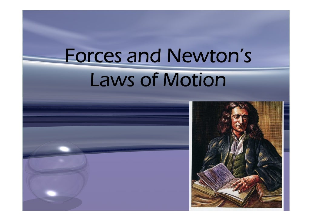 Forces and Newton\'s Laws