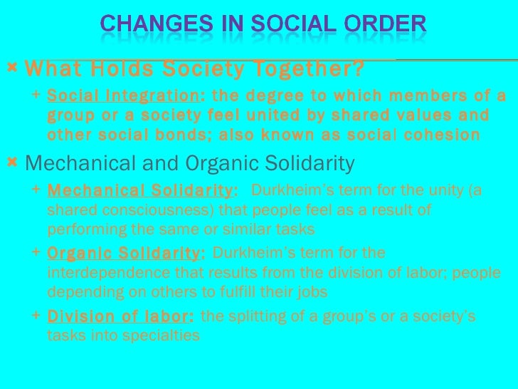 mechanical and organic solidarity This feature is not available right now please try again later.