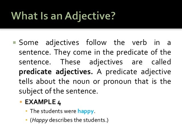 Example Of An Adjective