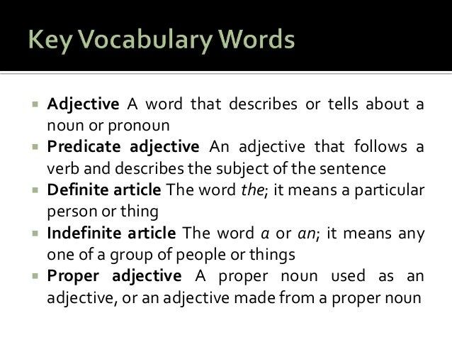 a paragraph using adjectives Descriptive writing has a unique power and appeal, as it evokes sights, smells pay attention to the mood in the following paragraph what to avoid when using sensory detail too many adjectives retain only the most powerful words in your writing.