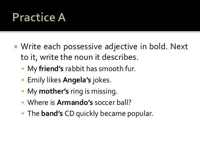 possessive chapter