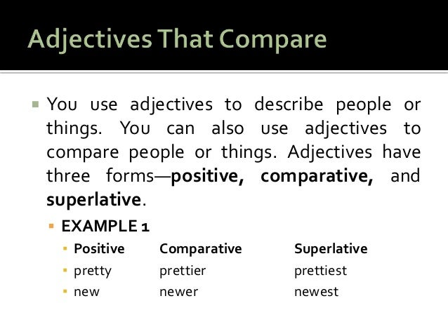 Can anyone give me a list of strong adjectives?