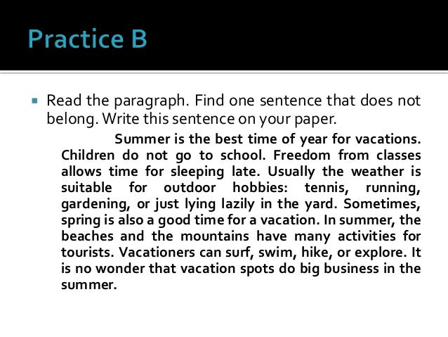 One sentence paragraph
