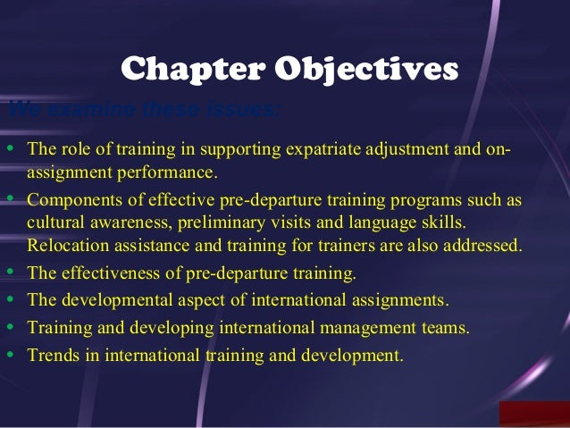 cross cultural training for expatriate managers essay Cross-cultural training is an essential fixture in the human resources management arena of businesses and organizations the need for cross-cultural instruction is essential in organizations whose breadth stems globally.