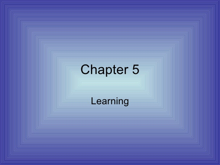 Chapter 5 Learning