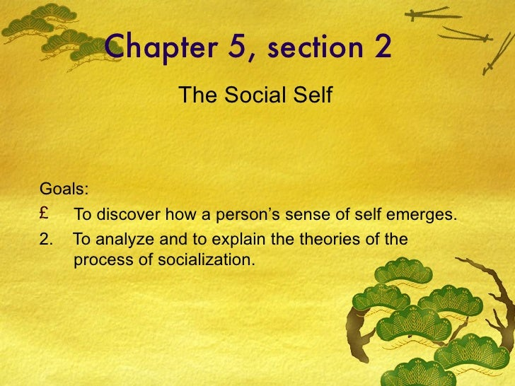 Chapter 5, section 2 <ul><li>The Social Self </li></ul><ul><li>Goals: </li></ul><ul><li>To discover how a person's sense o...