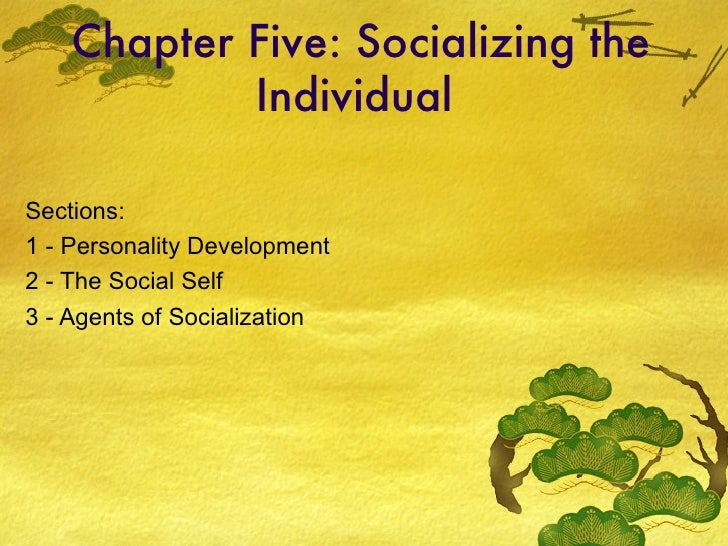 Chapter Five: Socializing the Individual  Sections: 1 - Personality Development 2 - The Social Self 3 - Agents of Socializ...