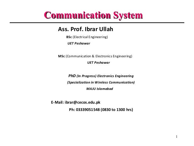 communication system Chapter 6