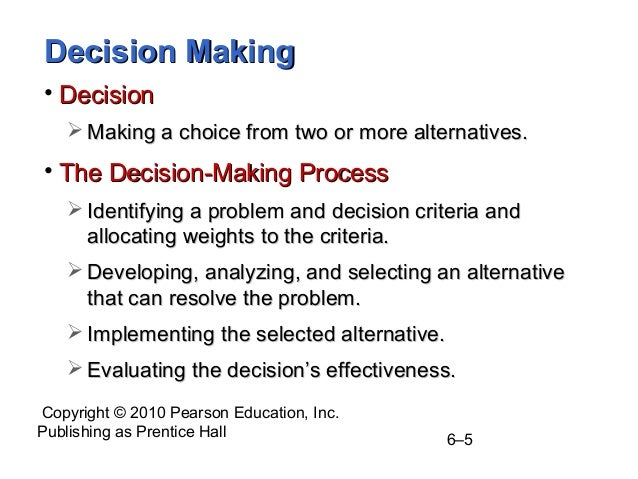 decision making for managers Introduction to the four decision making styles all of us make decisions everyday we make decisions as to where to eat and what to eat everyday on a business level, the managers make decisions, ranging from hiring and firing to merger and acquisitions.