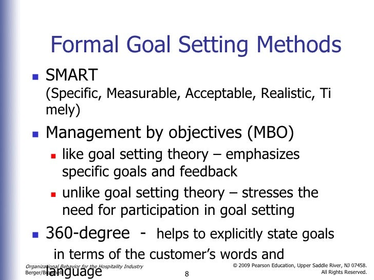 Objectives in Hospitality Performance