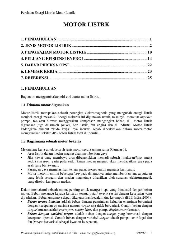 Chapter   electric motors (bahasa indonesia)