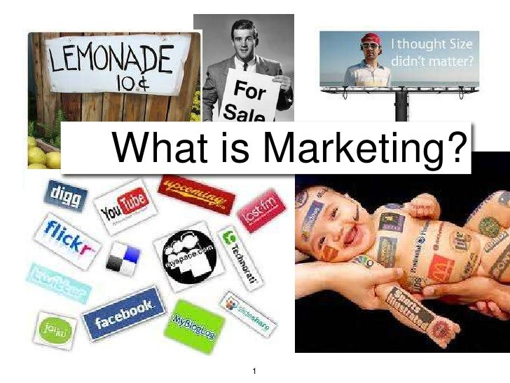 1<br />What is Marketing?<br />