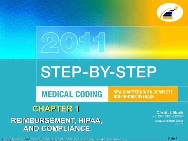 CHAPTER 1       REIMBURSEMENT, HIPAA,          AND COMPLIANCECopyright © 2011, 2010, 2009, 2008, 2007, 2006, 2005, 2004, 2...