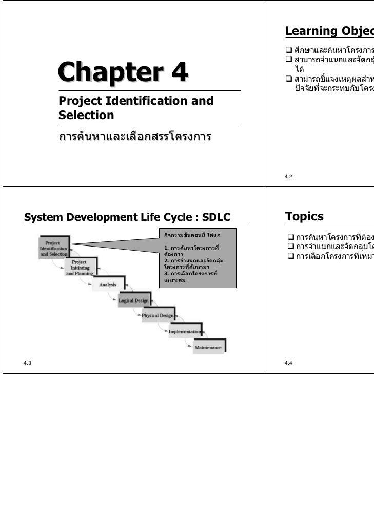 Learning Objectives                                                         ศึกษาและคนหาโครงการทีตองการพัฒนาตรงตามความต...