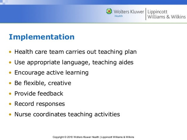 health plan teaching
