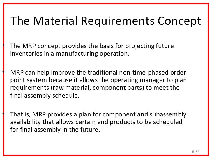 expansions of material requirements planning If you would like to learn more about becoming truly demand driven, read: ddmrp – demand driven material requirements planning by carol ptak and chad smith read more of richard cushing's blogs .