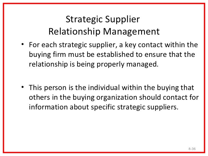 supplier relationship essay Toyota supply network, and identify key structural features using measures from   a 'who-supplies-who' relationship between network actors has an inherent.