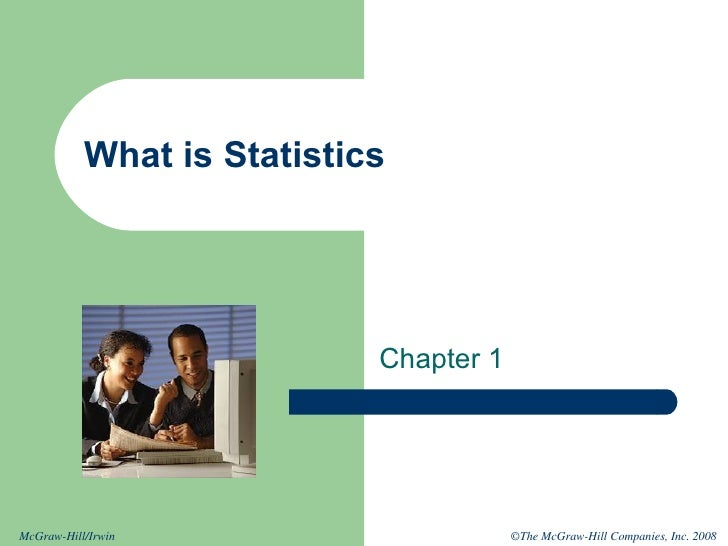 What is Statistics Chapter 1