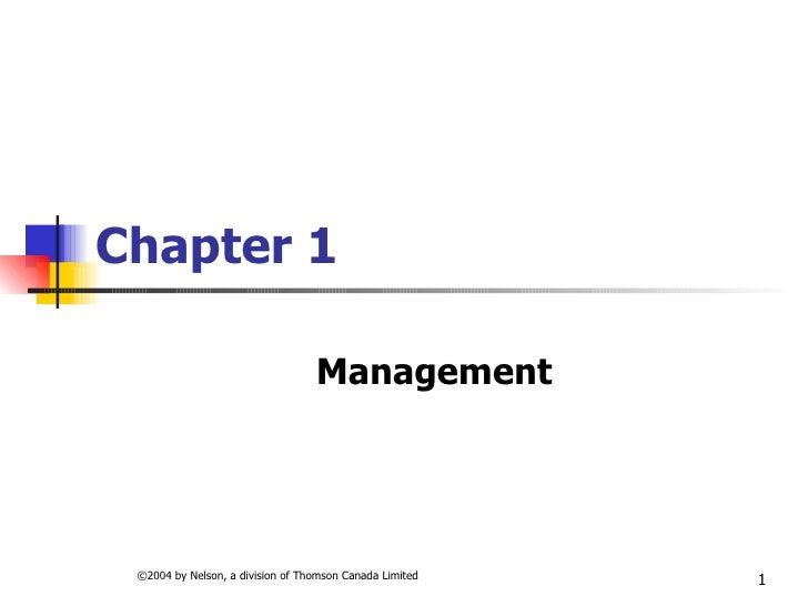 Chapter 1 Management