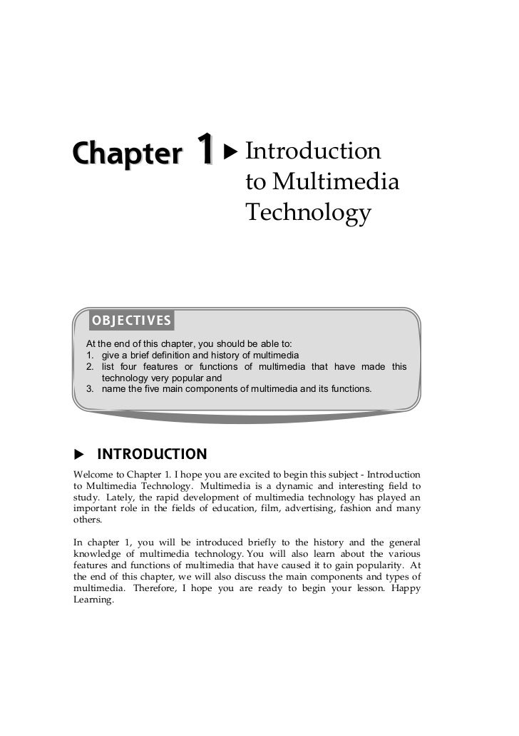 Chapter                     1           Introduction                                        to Multimedia                 ...